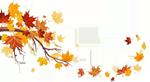 Wandern im Herbst Deko